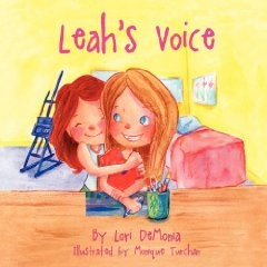 Leah's Voice is a story that touches on the difficulties children encounter when they meet a child with special needs such as autism. Children who have a brother or sister with special needs may find it difficult to explain to their friends, or feel disappointed when their friends aren't more understanding. Through her kindness and devotion, one sister teaches by example the importance of including everyone and showing acceptance.