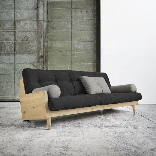Sofa rozkładana Karup Indie Natural/Dark Grey/Granite Grey