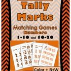 Orange & Black Chevron Tally Marks Matching Games (Numbers 1-10 & 10-20)  ~ Students match the cute orange and black chevron numbers 1-10 a...