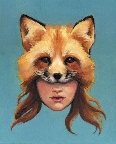 Fox Mask Painting ◆ Art For Teens ◆ Print by Heather Robinson Teran