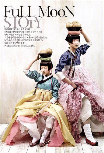 Full Moon Story by nihilistic_youth, via Flickr  Korea dress hanbok photoshoot by Vogue Korea
