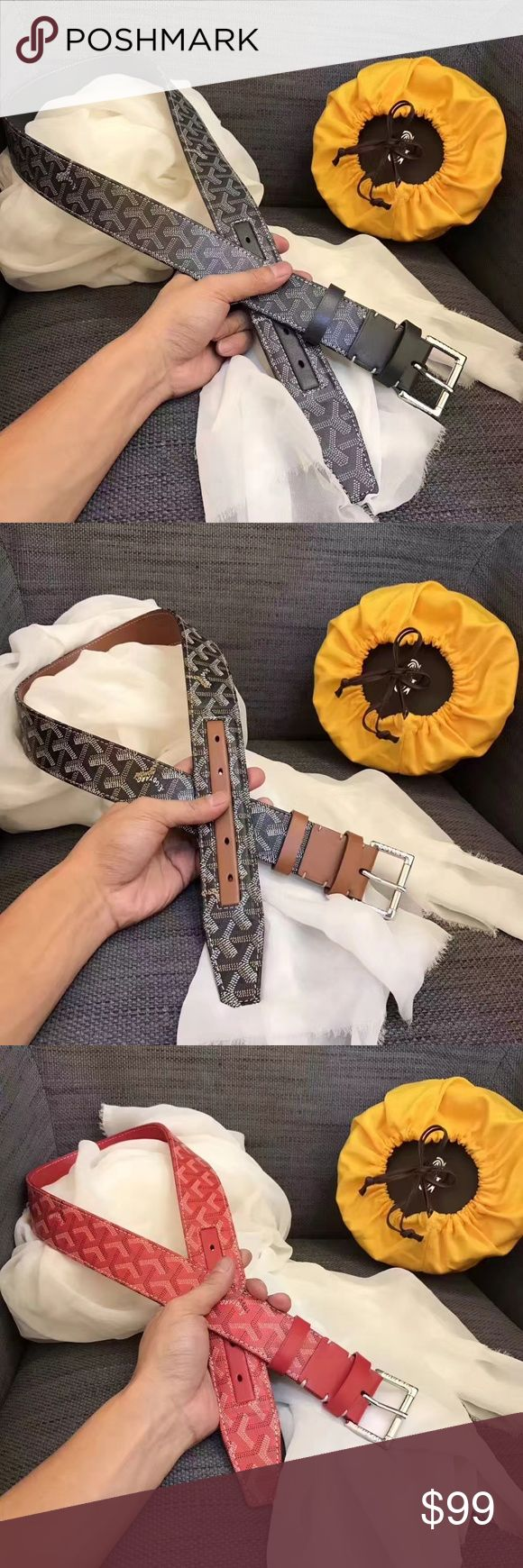 Goyard belt for women and man Dear, It is 1:1 quality for women and man. The size is about 26-44, waist 70-110. If you are interested, you can my wechat : belindamiler, or ins:blindamiler.bag, email: blindamiler@gmail.com , whatsapp:+8613599027729. we ship it worldwide free. Goyard Accessories Belts