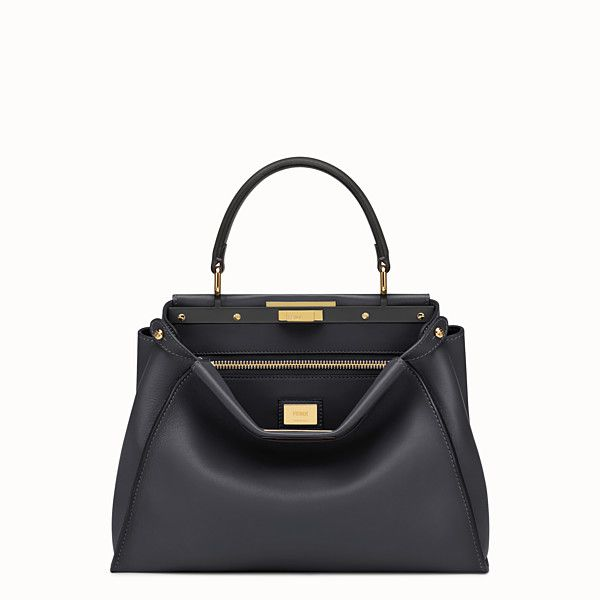FENDI PEEKABOO REGULAR - handbag in black leather - view 1 small thumbnail 37d47f50fd93