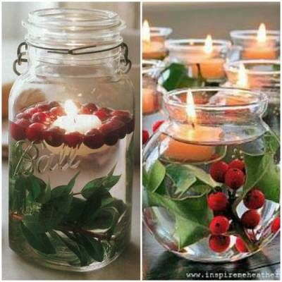 Natale ricicloso: 10 portacandele fai da te