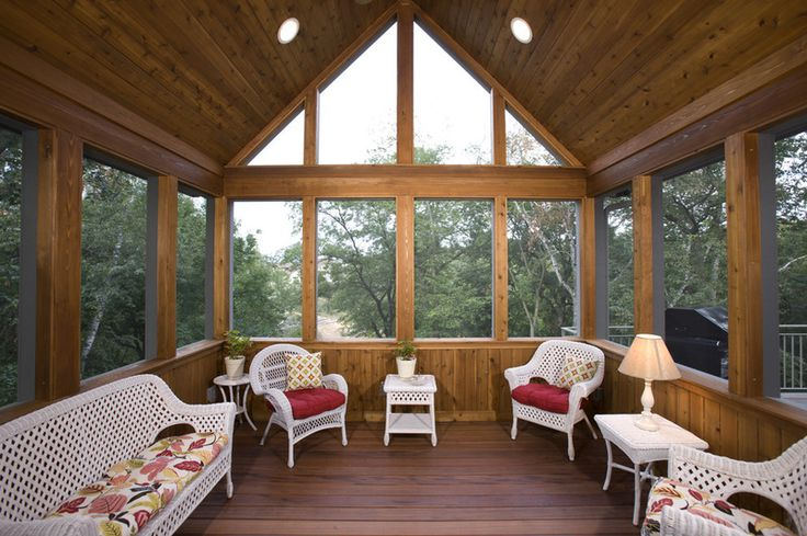 Interior design exciting 3 season porch with floorboard for Interior porch doors