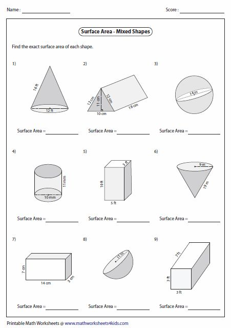 surface area of mixed shapes 6th grade math pinterest shape and surface area. Black Bedroom Furniture Sets. Home Design Ideas