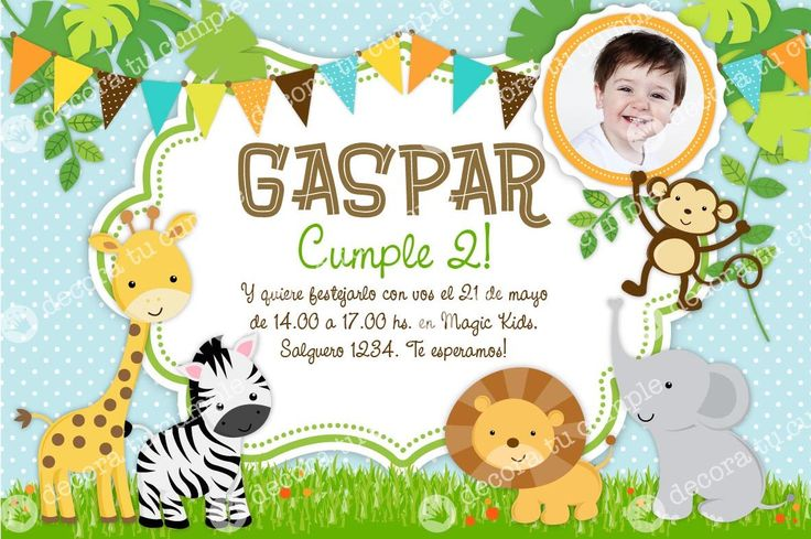 Invitaciones De Cumpleaños De Animales En Hd Gratis Para Descargar 4  en HD Gratis