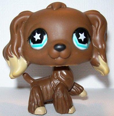 Littlest Pet Shop LPS Cocker Spaniel #960 Dog Puppy Brown with Tan