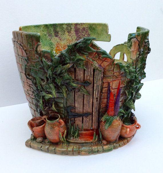 I LOVE THIS ONE SOOOOOO MUCH! - HEATHER SCOTT  ... I found this really awesome Etsy listing at https://www.etsy.com/listing/243351971/secret-walled-garden-yarn-bowl