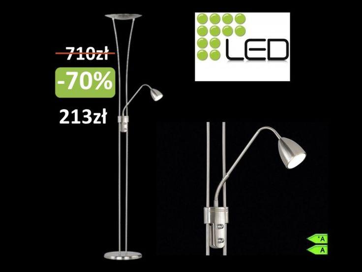 Nowoczesna lampa LED podłogowa stojąca TRIO-70% !!