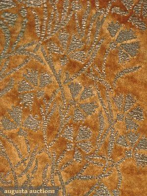 FORTUNY STENCILLED VELVET COAT, c. 1920: Antique Textiles That, Exquisite Fabrics, Textiles That Color, Fortuny Patterns, Beautiful Textiles, Designer Fortuny, Velvet, Fortuny Stencilled