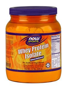 NOW- Whey Protein Isolate Unflavored 1.2 lbs