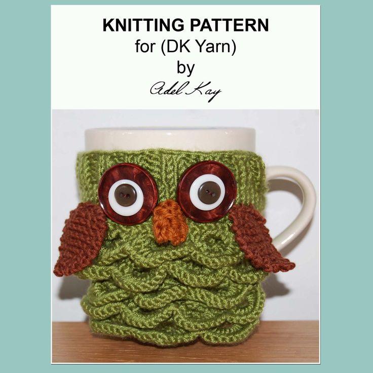 Archie Owl Mug Cosy Knitting Pattern