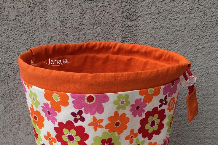 Textilný košík - Fabric basket free tutorial