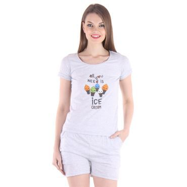 Buy Grey tops & shorts online at discount price.