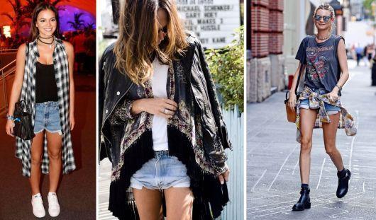 roupas de rockeiras - short jeans
