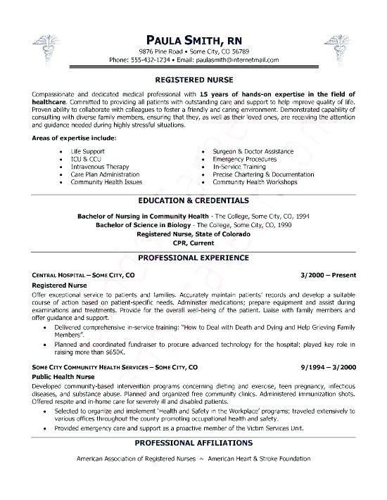 Examples Of Nurse Resumes #RESUME examples of nurse resumes cover ...