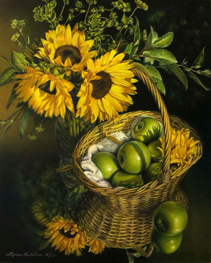 Copyright to Alyona Nickelsen | Sunflower art, Flower art ...