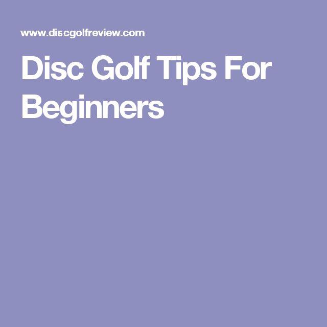 Disc Golf Tips For Beginners