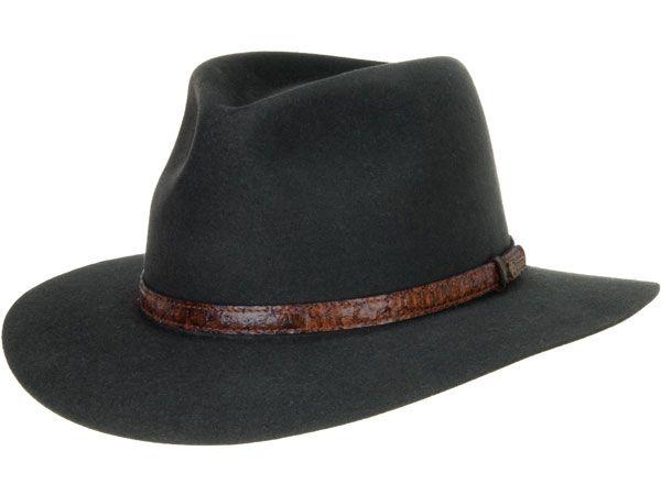 Banjo Paterson Hat by Akubra, Graphite Grey