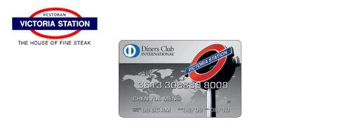 New Diners Club International   Victoria Station Co brand Card