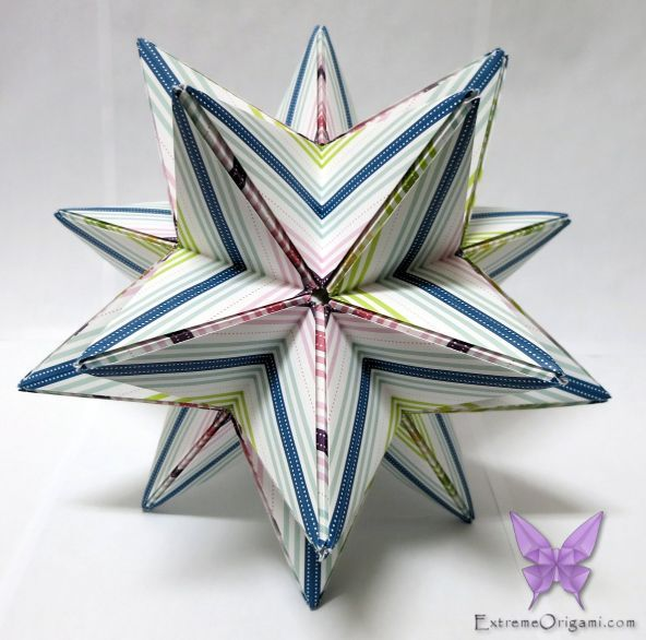 20 point star by sarah 30 pieces extreme origami