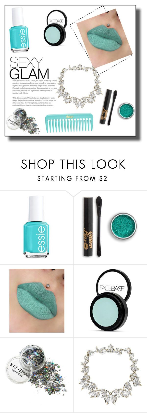 """""""Mint makeup"""" by maddigrace-ccc ❤ liked on Polyvore featuring beauty, Essie and Tiffany & Co."""