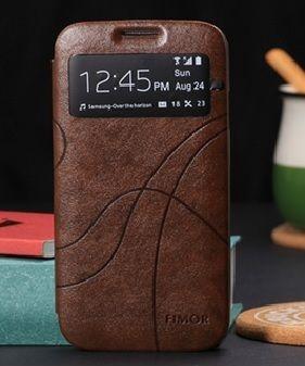 Θήκη Preview Window Flip Case OEM Καφέ (Samsung Galaxy S4) - myThiki.gr - Θήκες Κινητών-Αξεσουάρ για Smartphones και Tablets - Χρώμα καφέ