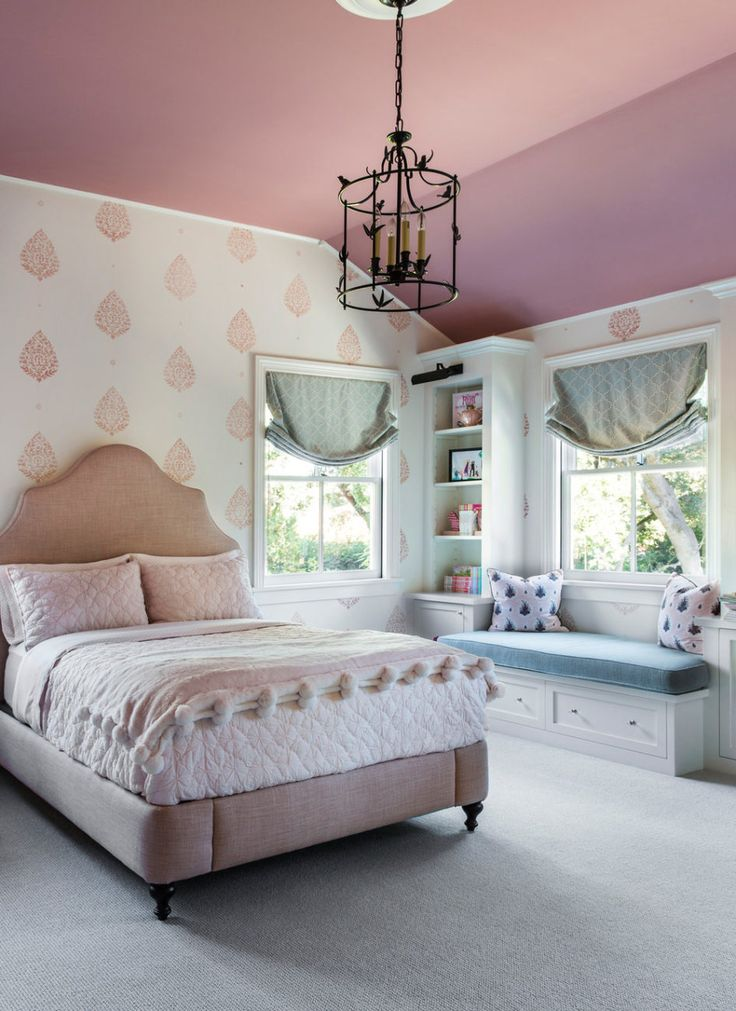 pink and blue girl's room