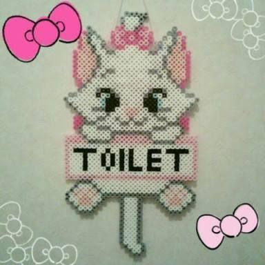 diy perles hama toilette marie aristochats