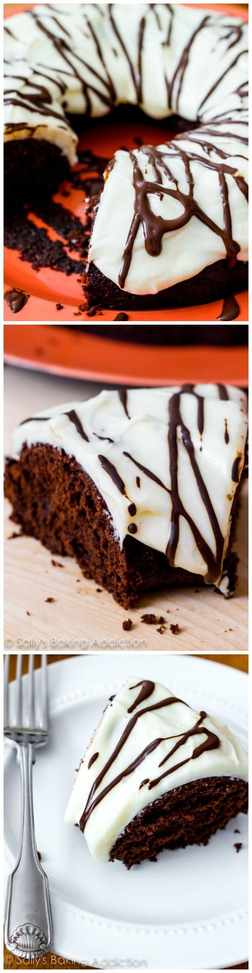 This Chocolate Gingerbread Bundt Cake with cream cheese frosting is full of holiday spices and tons of chocolate flavor!