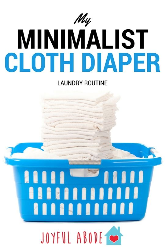 My Minimalist Cloth Diaper Laundry Routine - no fuss, no stress, easy peasy. Keep things simple, organized, and clutter-free with this diapering and washing routine.