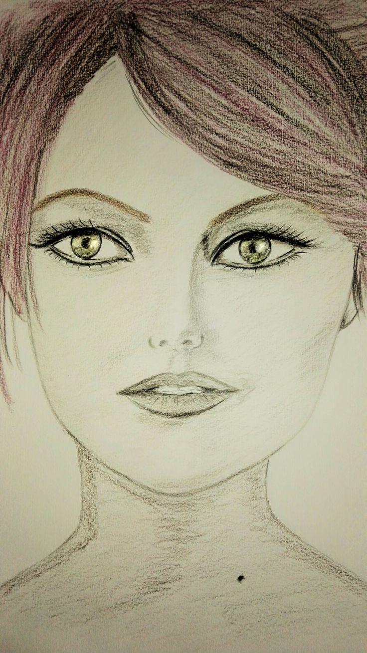 (*‿*✿)Emma Stone ... my drawing