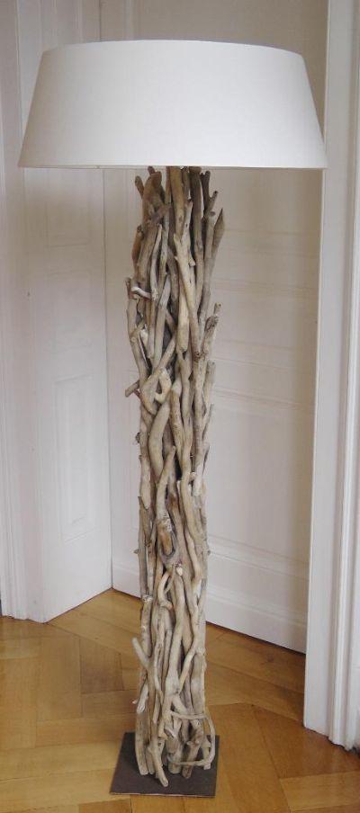 floor lamp inspiration for thrift store revamp from Treibholz Elke Paus
