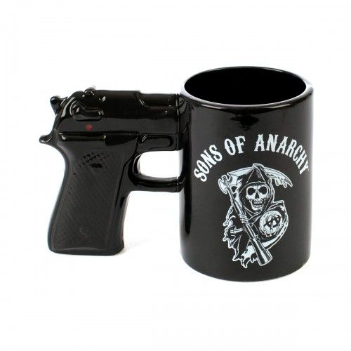 Sons of Anarchy Gun MugBoys Gift, Stuff, Gift Ideas, Guns Gift, Sons Of Anarchy Gift, Charli Hunnamsoa, Anarchy Guns, Mugs, Xmas Gift