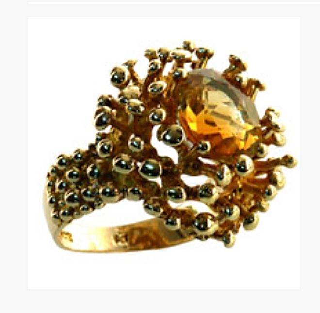 Bufon Ring in 9ct Yellow Gold and Citrine.   Cordys Auctions NZ
