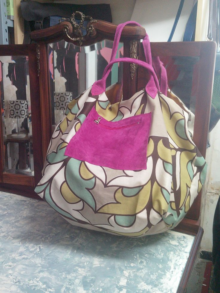 Cotton and leather big bag for all use you want.