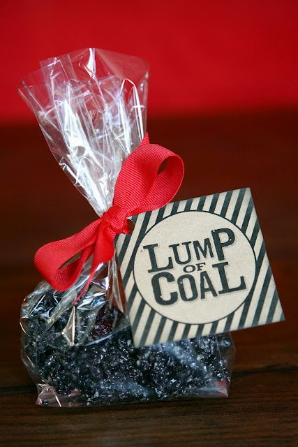 Lumps of Coal made out of oreos, marshmellows, and butter!  Instead of pressing into dish, just make into chunks or balls!  Perfect (and funny) gift for the kids!!