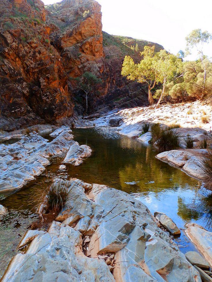 Blinman Pools Walk, via Angorichina, Northern Flinders Ranges, South Australia.  MORE:  https://www.redzaustralia.com/2017/08/flinders-ranges-south-australia-beginners-guide/