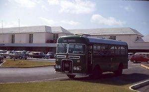 35mm-Slide-Bermuda-Air-Terminal-Chartered-Bus-in-Parking-Lot-1964