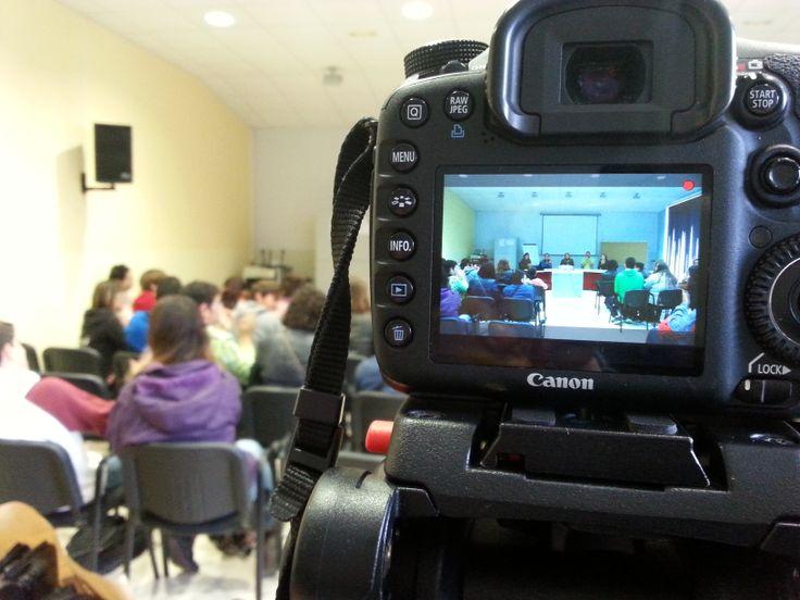 Grabando reportaje de la jornada 'Jóvenes en acción' - Participación y Voluntariado del Cabildo de Tenerife. Pedro Álvarez (Tegueste, Tenerife).