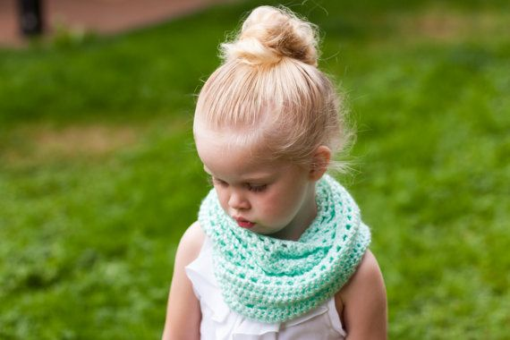 Baby or Toddler INFINITY Circle Scarf  mint green by sophiezhappy