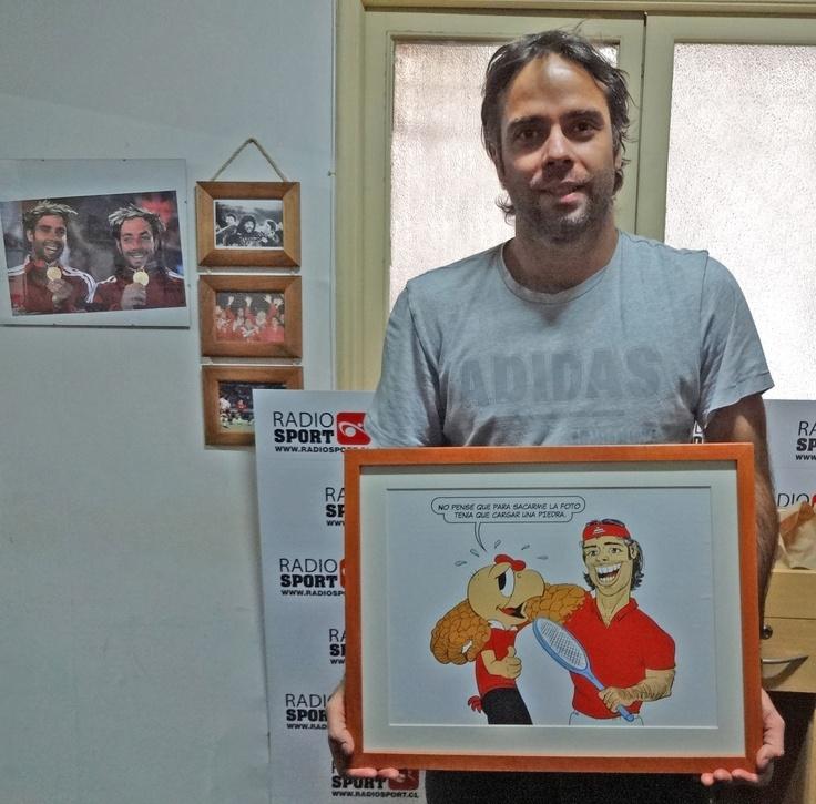 El lindo regalo que le hice al Tenista chileno Fernando González. Junio 2013.
