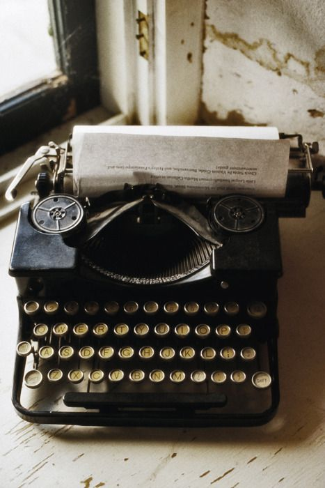 I would love to have a typewriter. Working or not….