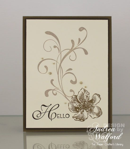 Hello Stampin' Up! Card by Andrea Walford