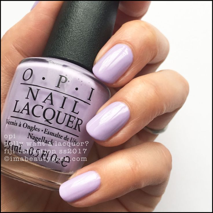 OPI Polly Want a Lacquer I OPI Spring collection 2017 I OPI lavender I lavender nails I nail inspiration