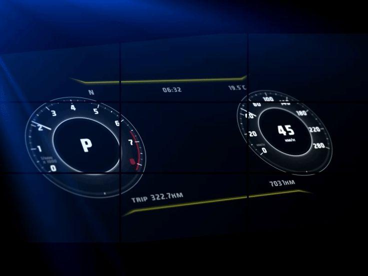 VW Arteon - dashboard interface by Marek Hanko