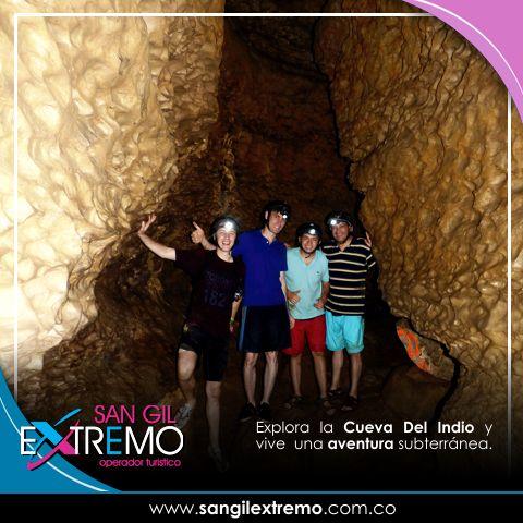 Explora La #CuevaDelIndio y vive una aventura subterránea. Entérate como realizar esta actividad en http://goo.gl/CNTk0n Contáctanos en: Calle 7 # 10 - 26 Piso 3 Frente al Malecón San Gil Santander. Cel. 304 572 52 20 info@sangilextremo.com.co