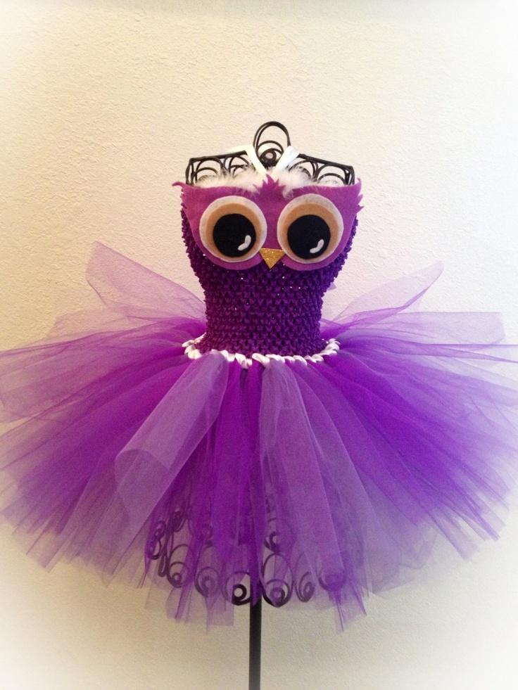 Purple Owl Tutu Dress (NB-4T). $35.00, via Etsy.