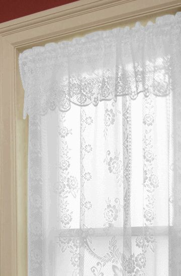 Victorian Rose Valance – Heritage Lace   - Heritage Lace Curtains